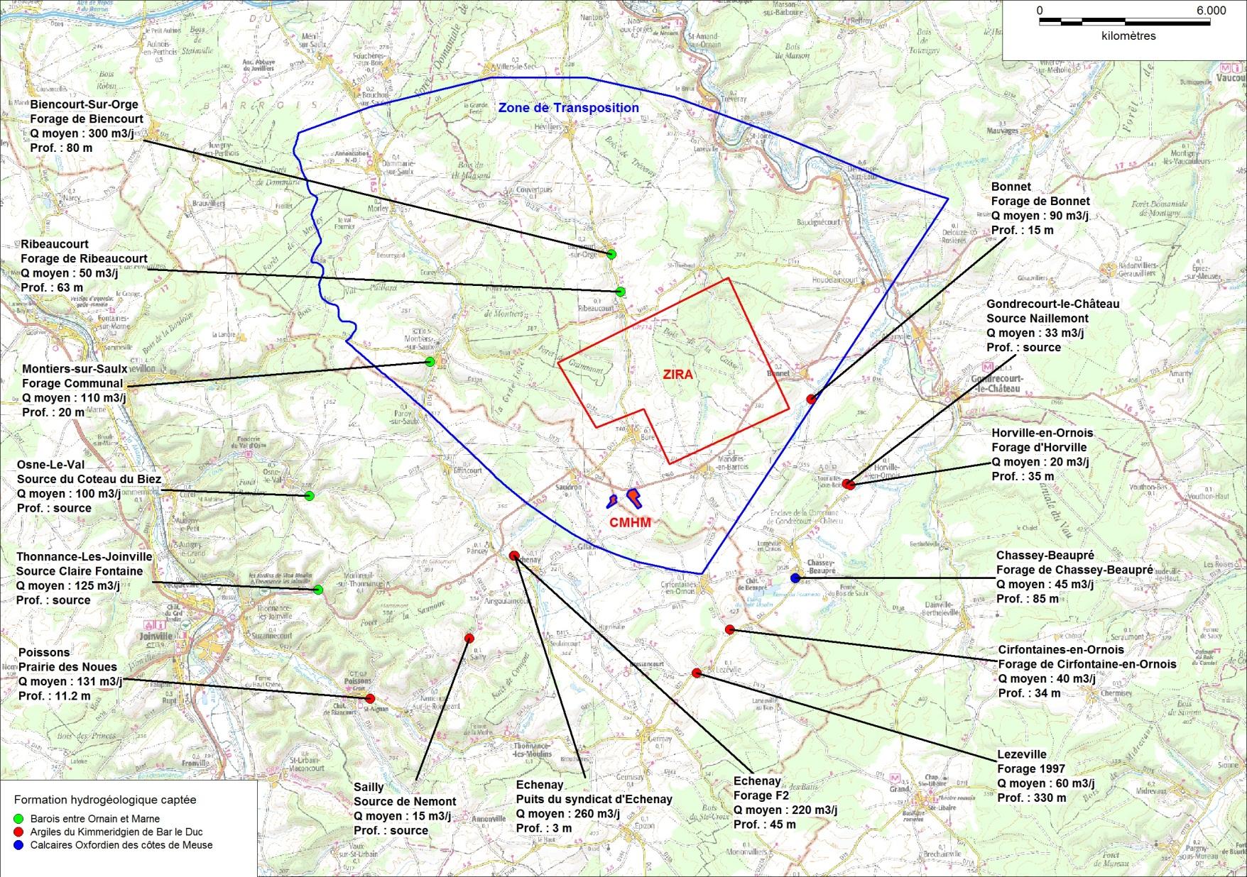 Localisation Des Captages Dalimentation En Eau Autour De La Zone Dimplantation